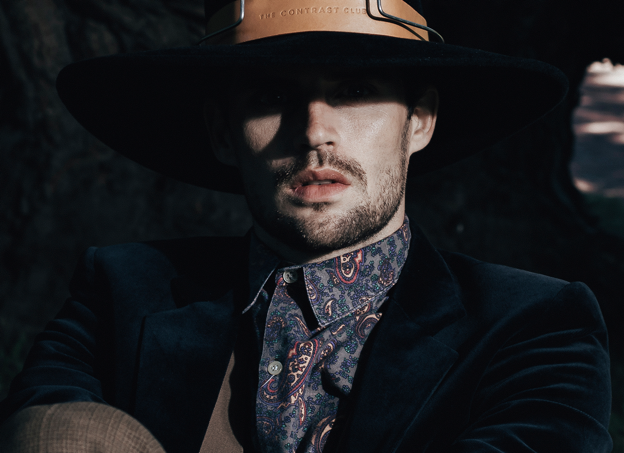 Man with Tenor hat